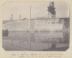 Nouveau Pont Du Canal Saint Denis, Construction,  Mars 1913. Rue A. Croizat.Quadruplement Voies Paris. Photo Originale - Trains