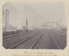 Pont Du Canal Saint Denis, Déviation Des Voies,  Janv 1914. Rue A. Croizat.Quadruplement Voies Paris. Photo Originale - Trains