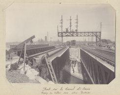 Pont Du Canal Saint Denis, Construction, Ripage Tabliers 1914 Rue A. Croizat.Quadruplement Voies Paris. Photo Originale - Trains