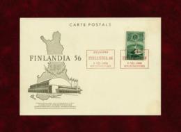 Finlandia  -  Carta Postal  (año 1956) - Finlandia