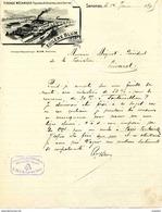 Tissage Mécanique Façonné Et Ordinaire En Tout Genre, Maison Eugène BLUM, Senones, 1895 - Autres Collections