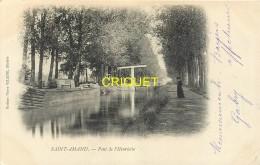 18 St Amand Montrond, Cp Pionnière, Pont De L'Henriette, Péniche Amarrée...., Affranchie 1903 - Saint-Amand-Montrond