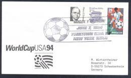 USA 1994 Cover: Football Soccer Fussball Calcio FIFA World Cup Mundial New York Yorktown Heigh Cancellation - World Cup
