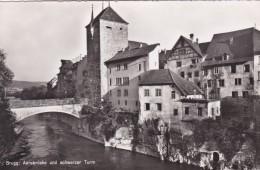Brugg: Aarebrücke Und Schwarzer Turm * 24. 8. 1954 - AG Aargau
