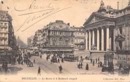 BRUXELLES - La Bourse Et Le Boulevard Anspach - Lanen, Boulevards