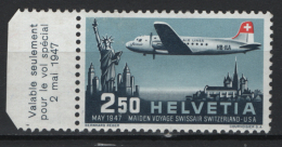 Svizzera 1947 Unif. A41 **/MNH VF - Poste Aérienne