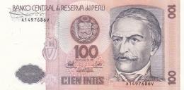 Banknote: Peru 1987 Cien Intis   (DD15-24) - Peru