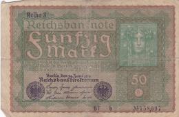 Banknote: Germany 1919 Reichsbanknote 50 Mark   (DD15-24) - [ 3] 1918-1933 : Weimar Republic