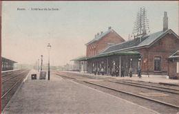 Boom Station Statie Interieur De La Gare Geanimeerd Ingekleurd Colorisee ZELDZAAM TOPKAART 1909 - Boom