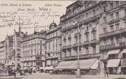 AUTRICHE CARTE POSTAL DE VIENNE HOTEL MEISSL UND SCHADN   HOTEL KRANZ - Wien Mitte