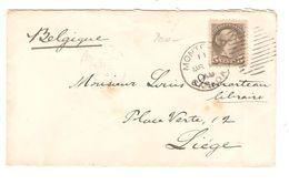 Canada TP 5 C C.Montréal 1893 Pour Liège Via London C.d'arrivée + C.facteur PR5108 - 1851-1902 Règne De Victoria