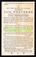BIDPRENTJE  JULES HOEYKENS JOANNA BASTIAENSSEN 1836 CAPPELLEN 1918 - Devotieprenten