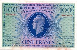 "100 F ""MARIANNE"" - Type 1943 (2/10/1943) - 1943-1945 Marianne"