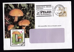 Germany: Advertorial Cover, 1987, 1 Stamp, Cancel Mushrooms (traces Of Use) - [7] West-Duitsland