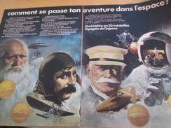 Pour  Collectionneurs  PUBLICITE 60/70 ; SHELL MEDAILLES CONQUETE DE L'ESPACE 1969/70 Format Double Page A4 - Francia