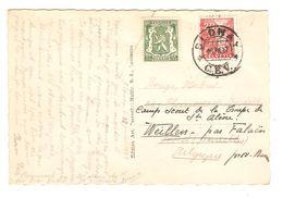 Suisse CP De Blonay 18/7/1937 V.BXL Réexpédiée Par TP 425 Non Oblitéré Pour Weillen Camp Scout Troupe Ste Aline PR5109 - Suisse