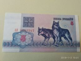 5 Rubli 1992 - Bielorussia