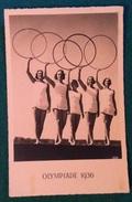 OLIMPIADE  BERLINO 12936 CARTOLINA PROPAGANDA OLYMPIADE 1936  VIAGGIATA CONN VALORE SERIE OLIMPICA IL 2/8/36 - Olympic Games