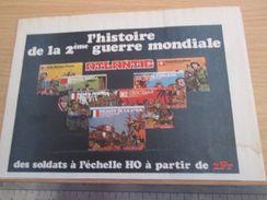 Pour  Collectionneurs  PUBLICITE Années 60/70 : FIGURINES ATLANTIC SOLDATS HO 2e GUERRE MONDIALE ; Format 1/2 Page A4 - Army
