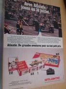 Pour  Collectionneurs  PUBLICITE Années 60/70 : FIGURINES ATLANTIC SOLDATS HO DEFILE 14 JUILLET ;  Format Page A4 - Army