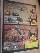 Pour  Collectionneurs  PUBLICITE Années 60/70 : FIGURINES ATLANTIC SOLDATS HO LANCE-FUSEE ET MISSILES  ;  Format Page A4 - Army