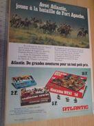 Pour  Collectionneurs  PUBLICITE Années 60/70 : FIGURINES ATLANTIC FAR-WEST BATAILLE DE FORT APACHE ;  Format Page A4 - Leger