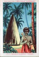 CHOCOLAT LOMBART, N°77, NOUVELLE CALEDONIE, CANAQUE - Lombart