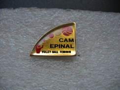 Pin's Du CAM Epinal; Club De Volley-Ball Féminin - Volleyball