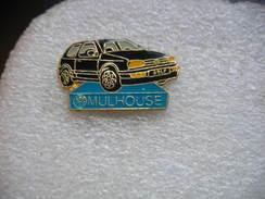Pin's Golf Noire, Concessionaire Wolkswagen De Mulhouse. - Volkswagen