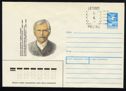 LITUANIE 1991, ENTIER POSTAL SURCHARGE 040 Sur URSS, 1 Enveloppe, Neuve / Mint.  R601 - Litauen