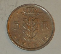 BELGIO – 5 FRANCHI – 1950 – (95) - 1945-1951: Reggenza