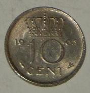 PAESI BASSI – NEDERLAND – 10 CENT – 1965 – (68) - [ 3] 1815-… : Regno Dei Paesi Bassi
