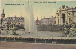 CARTOLINA - POSTCARD - BELGIO - BRUXELLES - EXPOSITION DE BRUXELLES 1910 - VUE DU JARDIN - Foreste, Parchi, Giardini