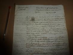 1811 CIRCULAIRE Du Procureur Impérial--->Sur Nouveau Code...En Ma Qualité D'Officier Des Galères...réfléchir De Tout,etc - Manuscrits