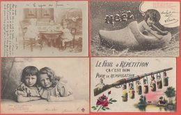 Lot De 11 CPA Fantaisie  (F2 - Cartoline