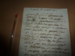 1812  ILLISIBLE......à Déchiffrer (Lettre Au Magistrat De Justice De Niort), Etc - Manuscrits