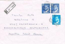 26879. Carta Certificada CALAHORRA (Logroño) Rioja 1987 A Alemania - 1931-Today: 2nd Rep - ... Juan Carlos I