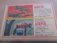 Page De Revue Des Années 60/70 : PUBLICITE MAQUETTES PLASTIQUE AIRFIX 1/72e ; Dimensions : 1/2 Page A4 - Airplanes