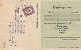 ÖSTERREICH NACHPORTO 1949 - 60 Gro (Ank223) Nachgebühr Auf Erlagschein V.FA Wien - Postage Due