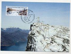 GREENLAND 1994 Buksefjord Hydro Power On Maximum Card.  Michel 246 - Maximum Cards
