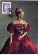 GREENLAND 1994 Queen Margarethe Definitive 7.00 Kr. On Maximum Card.  Michel 244 - Maximum Cards
