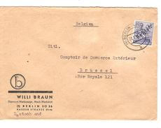 Berlin BM Deutsche Post Surcharged Berlin 1949 Für Brüssel Belgien PR5113 - Berlin (West)