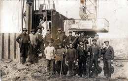 Bohrfirma? Bohrgerüst?, Orig.Fotokarte 1913, Stempel KARNAB - Berufe