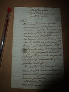 1815 Séance Des PAINS ? (non Déchiffré) ---Trois Amendements ,etc - Manuscrits