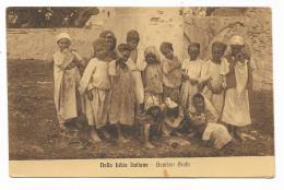 NELLA LIBIA ITALIANA - BAMBINI ARABI 1915  VIAGGIATA FP - Libya