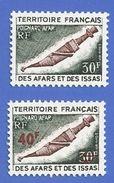 AFARS ET ISSAS 383 + 393 NEUFS ** POIGNARD AFAR - Unused Stamps