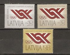 Lettonie - 1991 - Comité Olympique - Série Complète MNH - 283/85 - Or - Argent - Lettonie