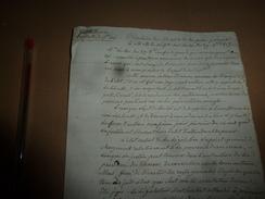 1815 CIRCULAIRE Du Ministre De POLICE Pour Ne Pas Substituer L'ARBITRAIRE à Une Juste Sévérité Pour Ne Pas Révolter,etc - Manuscrits