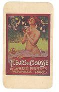 Carte Parfumée Fleurs De Mousse De Sauzé Frères, Parfumeurs, Paris - Adresse à Nimes, E. Pattus, Coiffeur ... ( état ) - Cartes Parfumées