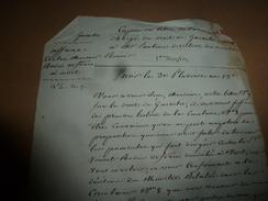 30 Pluviose 13e:AFFAIRE Bodin Orfèvre à Niort -->On Ne Peut Accepter Votre Proposition  Pour Terminer Les Poursuites,etc - Manuscrits